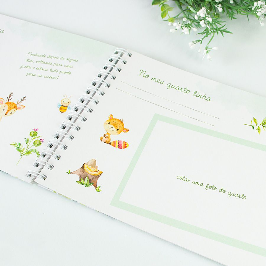Livro do Bebê Personalizado animais  - Valentina Milan Papelaria