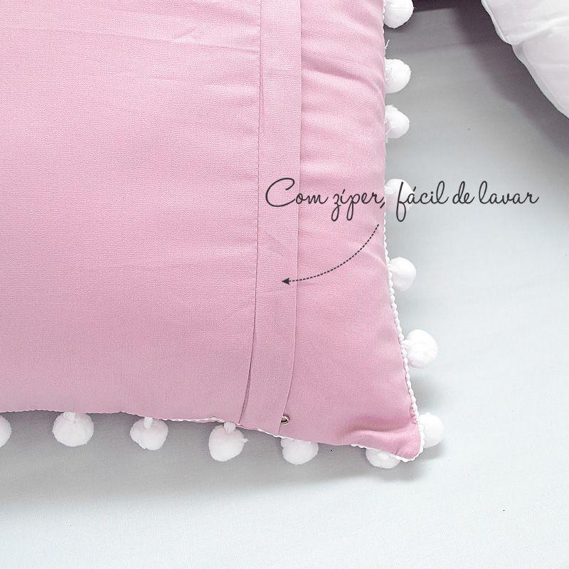 Kit de berço para o bebê completo 9 peças tema rosa seco e cinza + álbum do bebê  - Valentina Milan Lembrancinhas