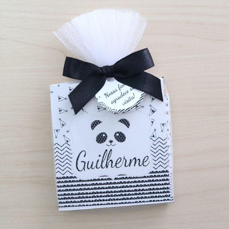 Lembrança personalizada bloquinho de anotações e lápis tema panda  - Valentina Milan Lembrancinhas