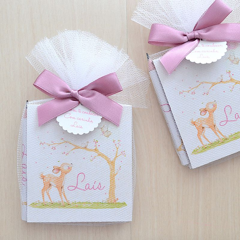 Lembrancinha para maternidade caderneta de anotações e lapis tema bichinhos da floresta  - Valentina Milan Lembrancinhas