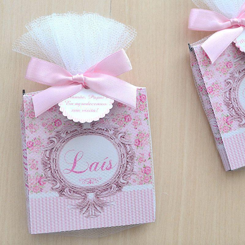 Lembrança personalizada tema floral com brasão bloquinho de anotações e lápis  - Valentina Milan Lembrancinhas