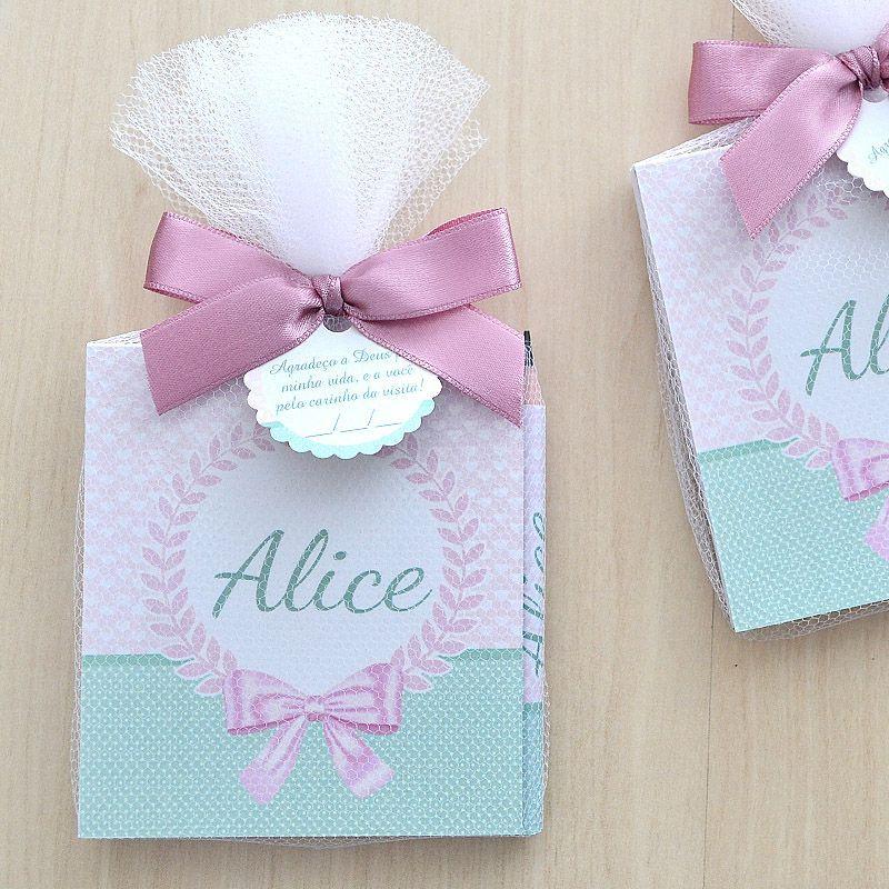 Lembrancinha bloquinho de anotações com lápis tema rosa seco e verde  - Valentina Milan Lembrancinhas