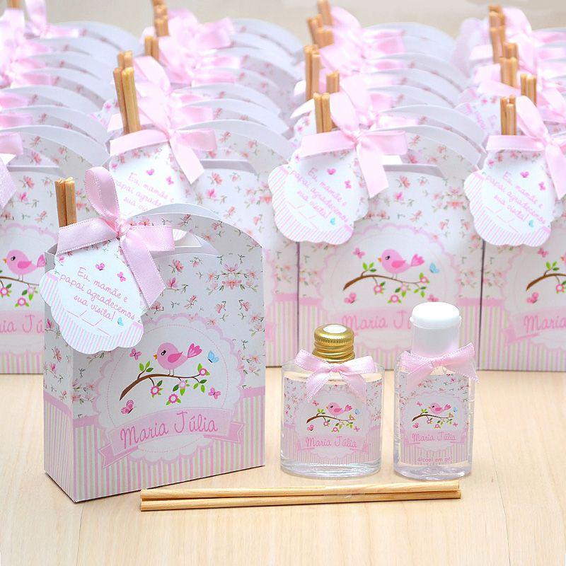 Lembrancinha caixinha com difusor de ambiente e hidratante tema floral  - Valentina Milan Lembrancinhas e Papelaria