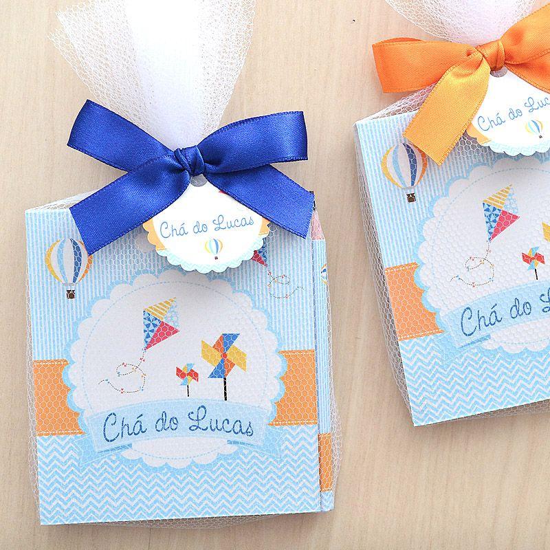 Lembrancinha personalizada caderno de anotaçoes e lápis tema balões e pipa  - Valentina Milan Lembrancinhas