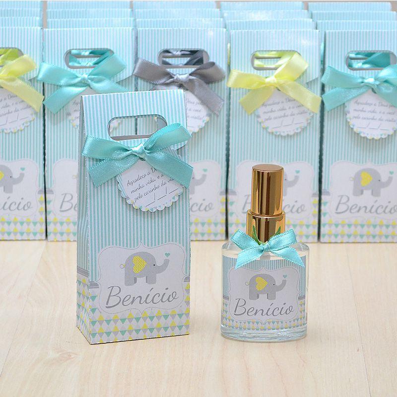 Lembrancinha personalizada caixinha home spray luxo tema elefantinho  - Valentina Milan Lembrancinhas