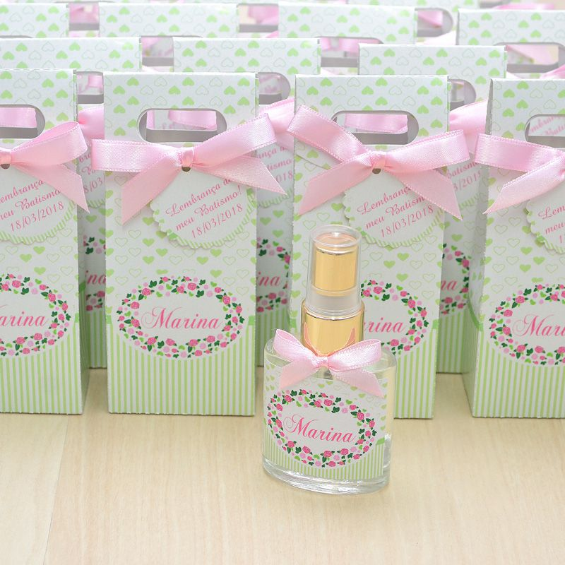 Lembrancinha personalizada caixinha home spray luxo tema floral  - Valentina Milan Lembrancinhas