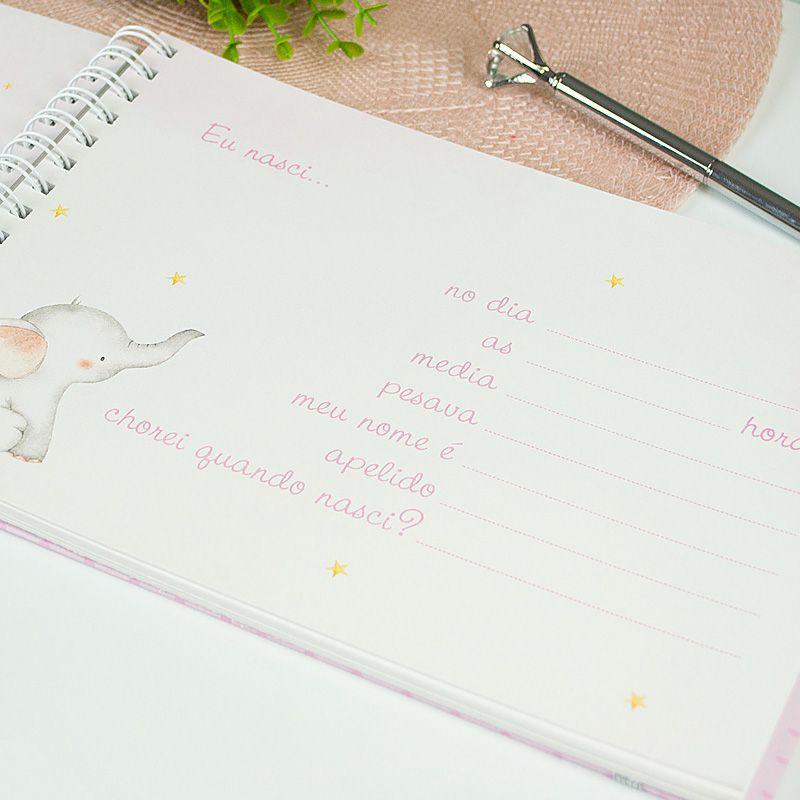 Livro do Bebê Personalizado  - Valentina Milan Papelaria