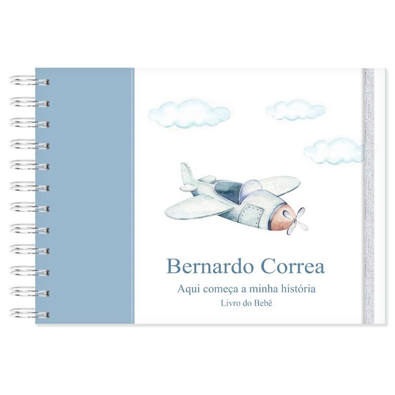 Livro do Bebê Personalizado Aviões