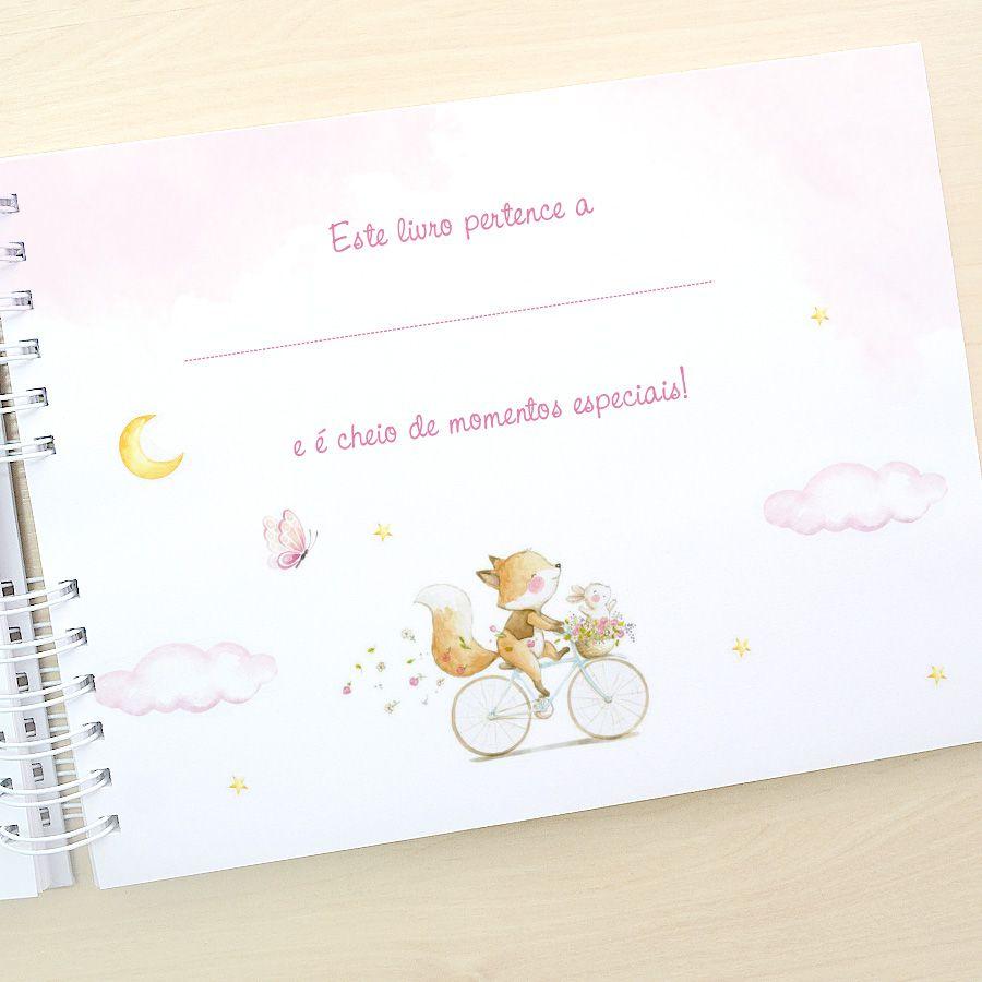 Diário do Bebê Personalizado  - Valentina Milan Lembrancinhas e Papelaria