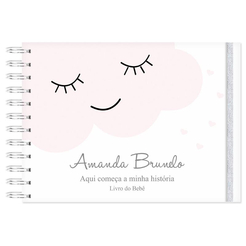 Livro do Bebê Personalizado Chuva de Amor / Nuvem