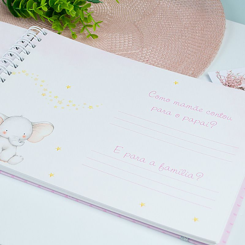 Livro do Bebê Personalizado menina raposinha  - Valentina Milan Papelaria
