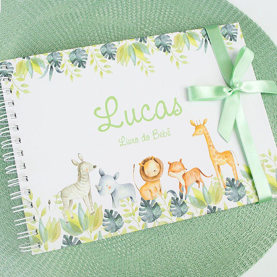 Livro do Bebê Personalizado menino elefante  - Valentina Milan Papelaria