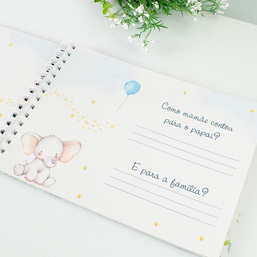 Livro do Bebê Personalizado menino animais  - Valentina Milan Papelaria