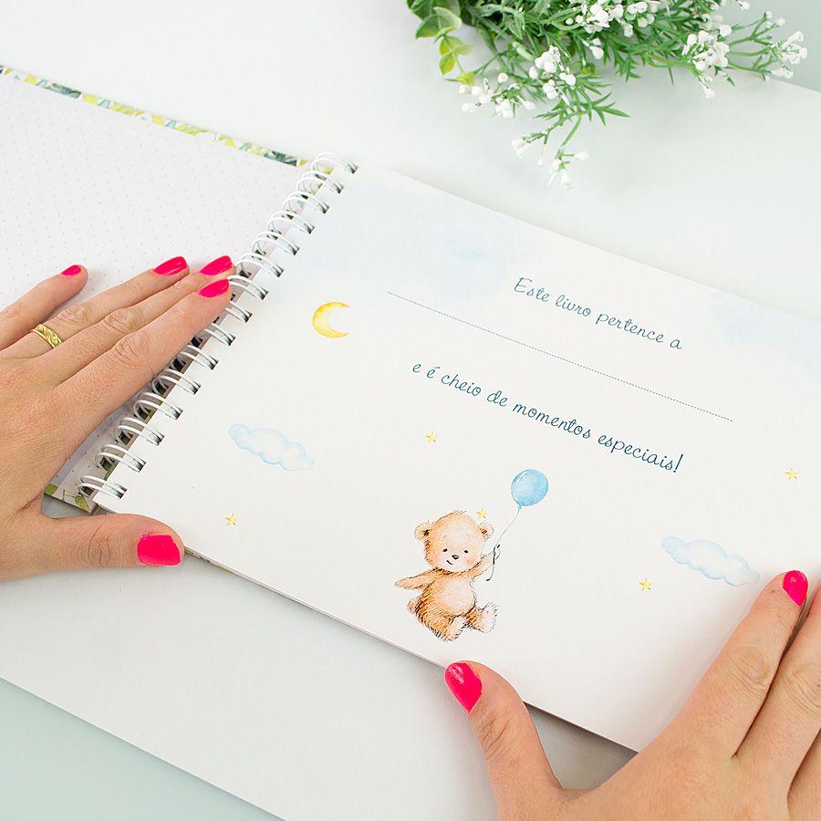 Livro do Bebê Personalizado Príncipe  - Valentina Milan Papelaria