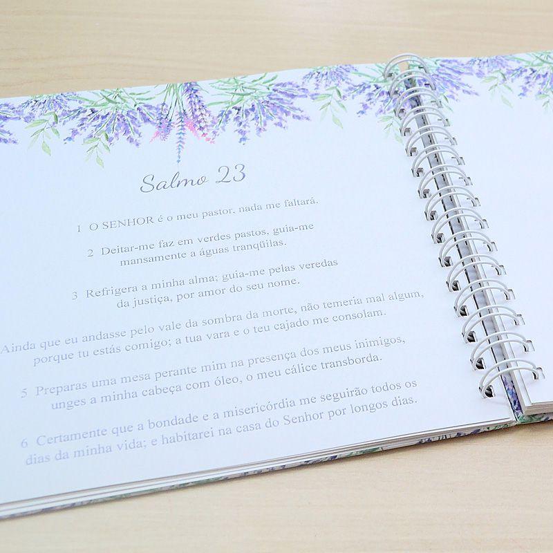 Livro personalizado meu Batismo memórias e recordações tema floral e anjinho  - Valentina Milan Lembrancinhas