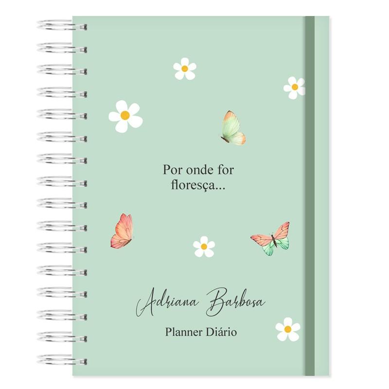 Mini Planner Diário - Floral Bonina