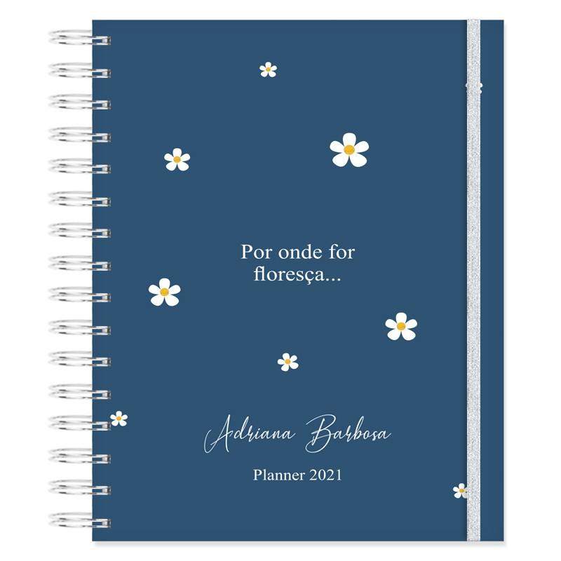 Planner 2021 Produtividade - Floral Bonina