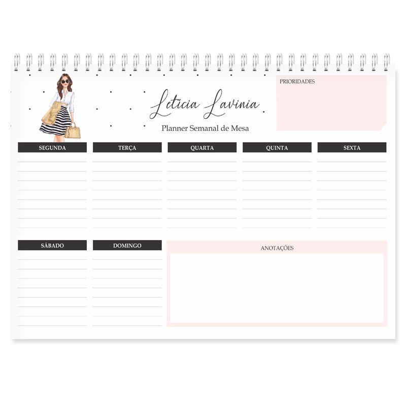 Planner de Mesa Semanal - Empoderada