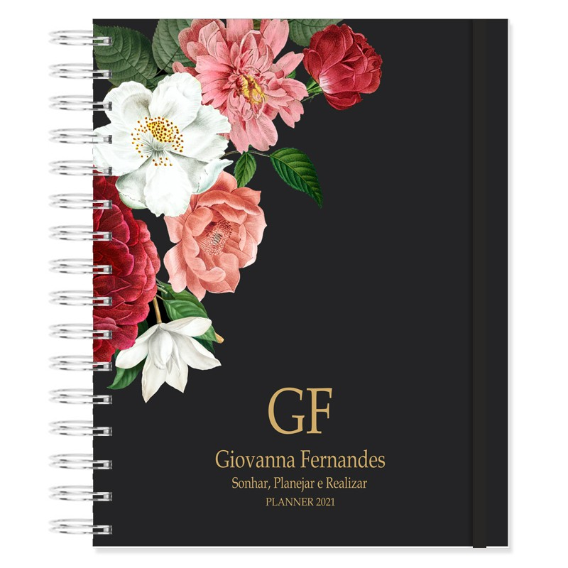 Planner 2021 Produtividade - Floral Latino