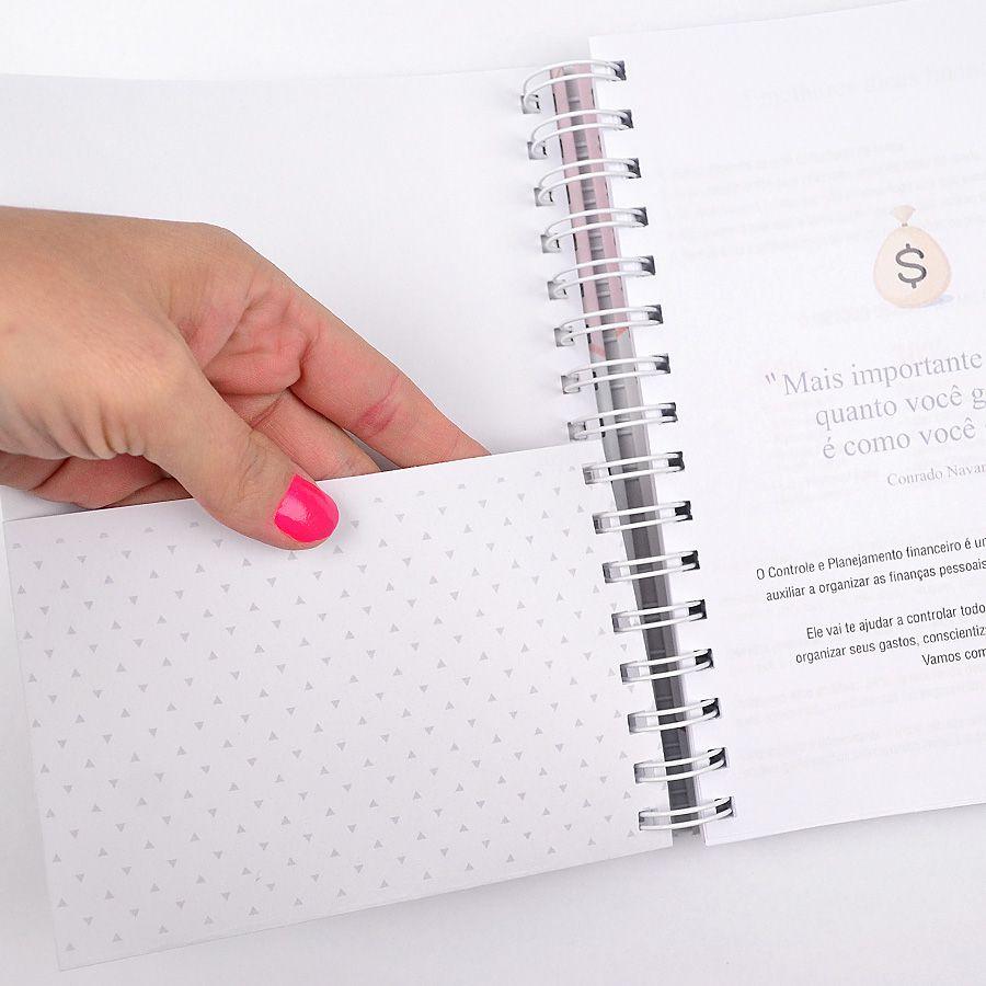 Planner Financeiro - Rosa  - Valentina Milan Papelaria