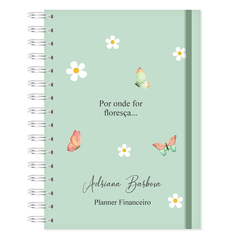 Planner Financeiro -  Floral Bonina
