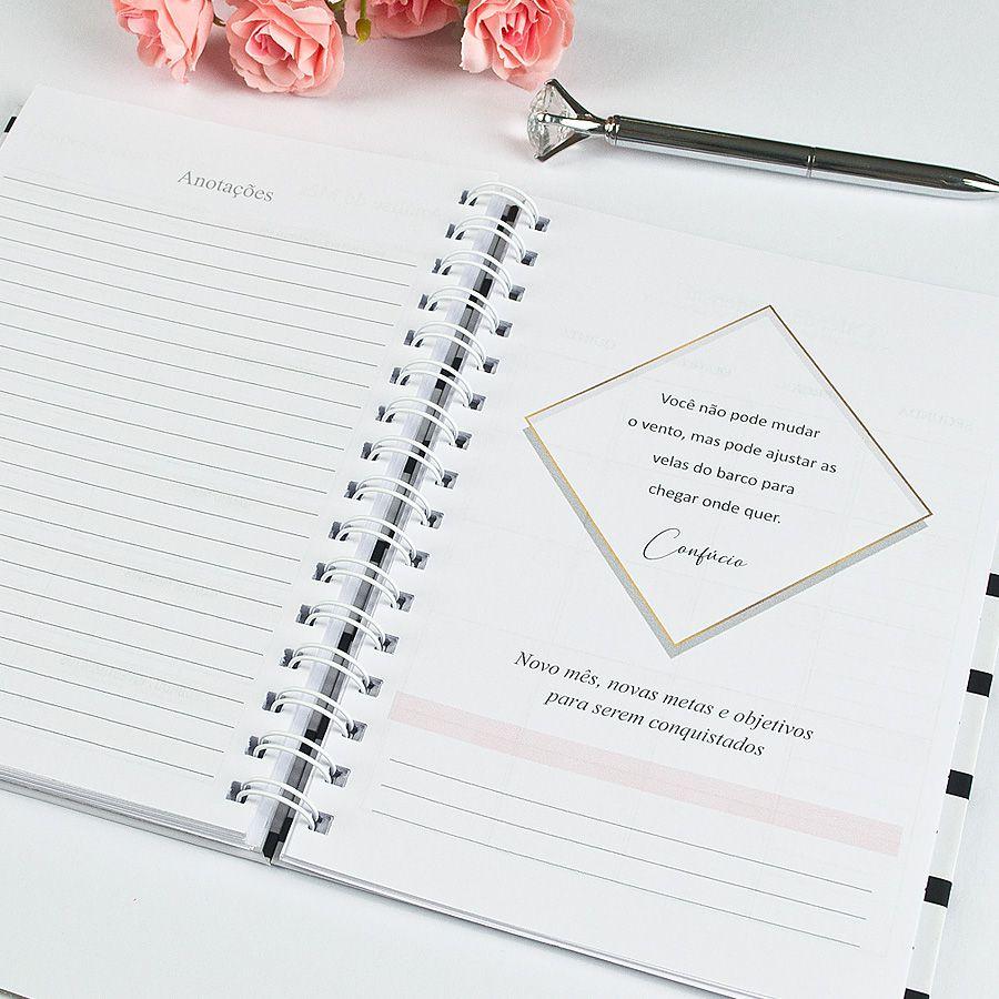 Planner Financeiro - Floral Rosa  - Valentina Milan Papelaria