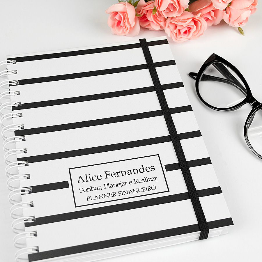 Planner Financeiro - Preto   - Valentina Milan Papelaria