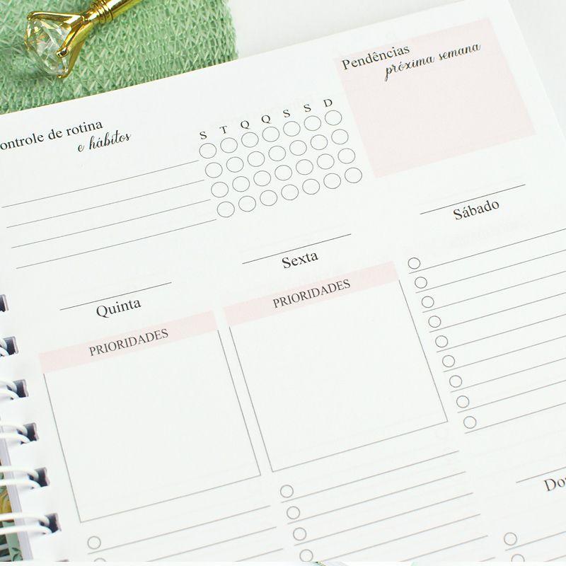 Planner Permanente Personalizado Elegante  - Valentina Milan Papelaria