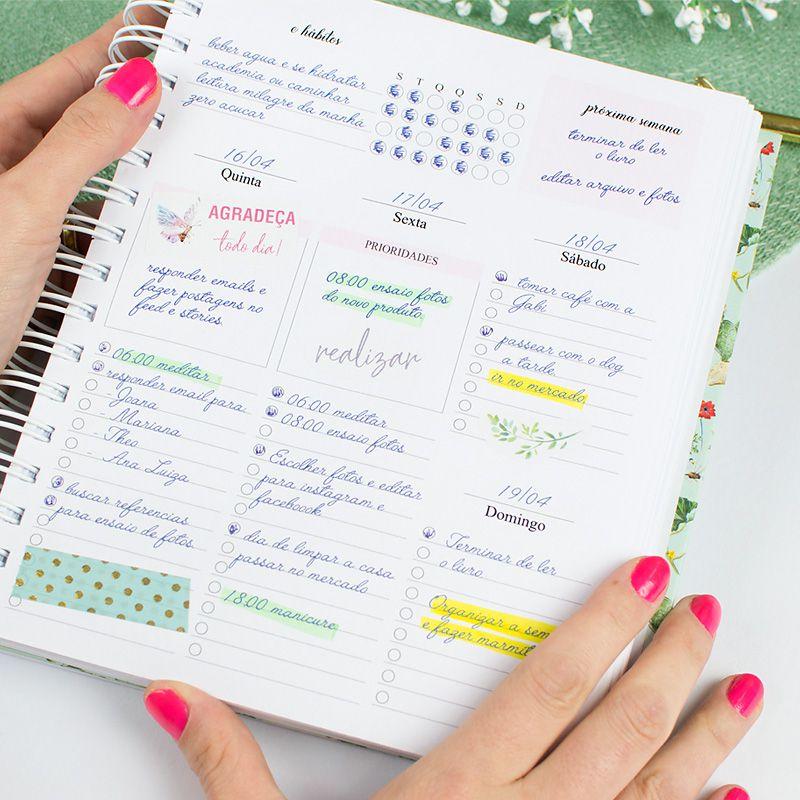 Planner Permanente Personalizado Mármore Rosa Claro  - Valentina Milan Papelaria