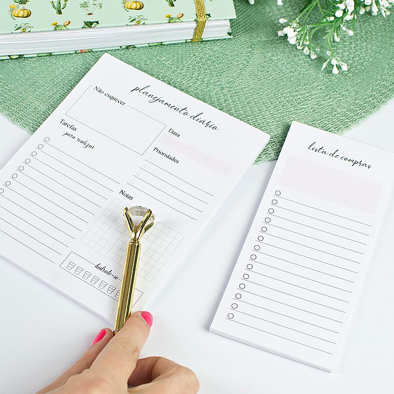 Planner Permanente Personalizado Floral Delicado  - Valentina Milan Papelaria