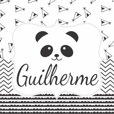 Quadro  decorativo para quarto ou maternidade coleção Panda  - Valentina Milan Lembrancinhas