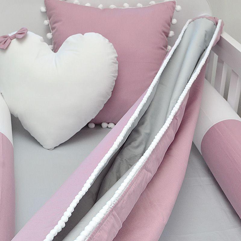Rede para Berço tema rosa seco e cinza  - Valentina Milan Lembrancinhas