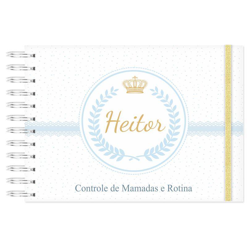 Controle de Rotina do Bebê Príncipe e Coroa  - Valentina Milan Papelaria