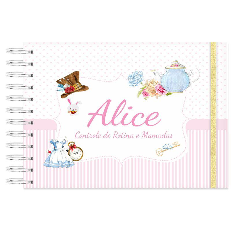 Controle de Rotina do Bebê Alice País das Maravilhas  - Valentina Milan Papelaria