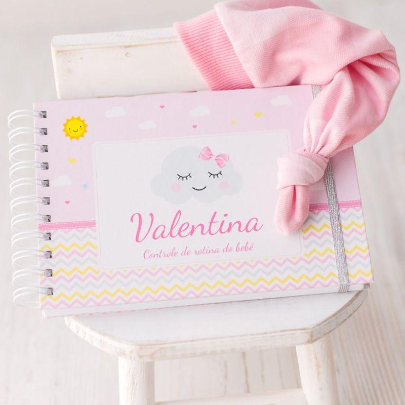 Controle de Rotina do Bebê Tropical Flamingo  - Valentina Milan Papelaria