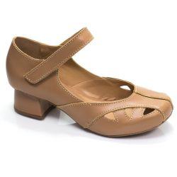 Sapato Boneca Retrô em couro Acácia