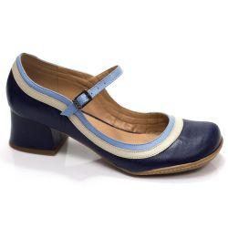 Sapato Boneca Retrô em couro Alamanda