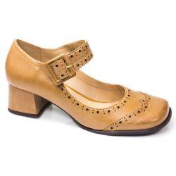 Sapato Boneca Retrô em couro Bath