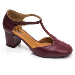Sapato Boneca Retrô em couro Helsinque