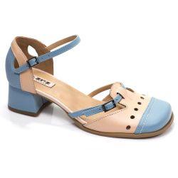 Sapato Boneca Retrô em couro Lolli