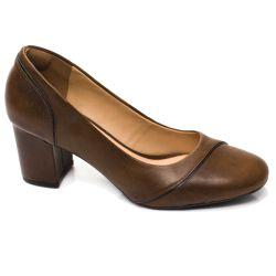 Sapato Boneca Retrô em Couro Marble
