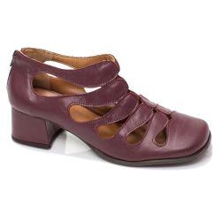 Sapato Boneca Retrô em couro Onda