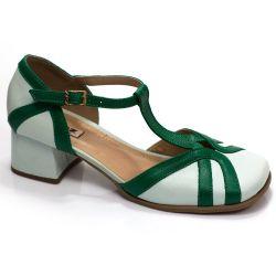 Sapato Retrô em couro Bardana