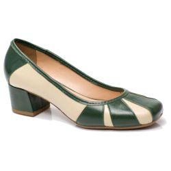Sapato Retrô em Couro Bavarese