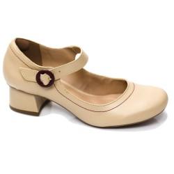 Sapato Retrô em Couro Bonsai
