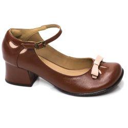 Sapato Retrô em Couro Brita