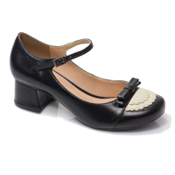 Sapato Retrô em couro Bruges
