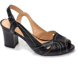Sapato Retrô em Couro Cantuccini