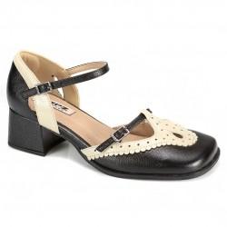 Sapato Retrô em couro Cheer