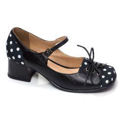 Sapato Retrô em couro Corset